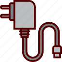 cable, charger, electricity, energy, plug icon