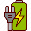 battery, charge, charging, energy, plug icon