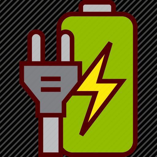 battery, charge, charging, energy, plug icon