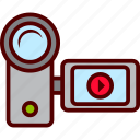 camera, film, handy, video icon
