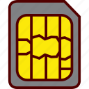 card, micro, mobile, phone, sim, smartphone icon