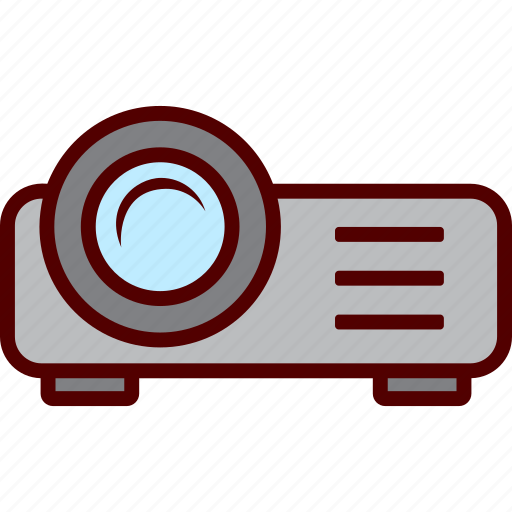 device, presentation, projection, projector, video icon