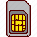 card, mobile, phone, sim, smartphone icon