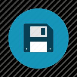disk, flash, retro, technology icon