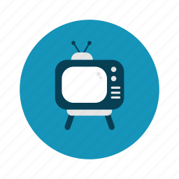 retro, technology, television, tv, watch icon