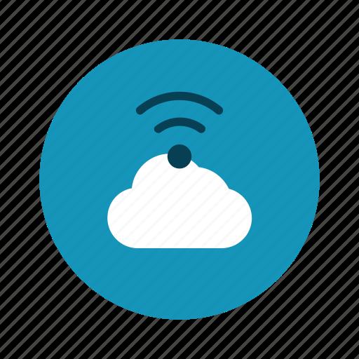 cloud, data, technology, web, wifi icon