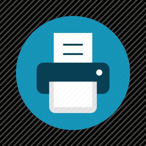print, printer, technology icon