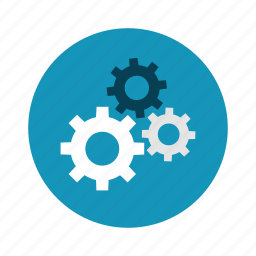 gears, process, settings, system, technology icon