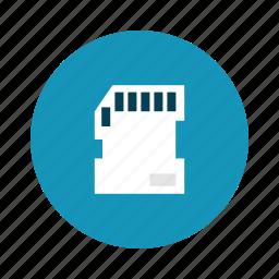 card, data, memory, micro, sd, technology icon