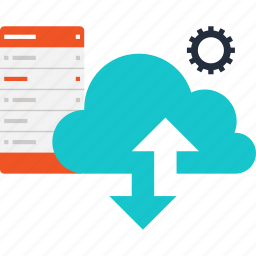 cloud, computing, hosting, internet, network, server, services icon