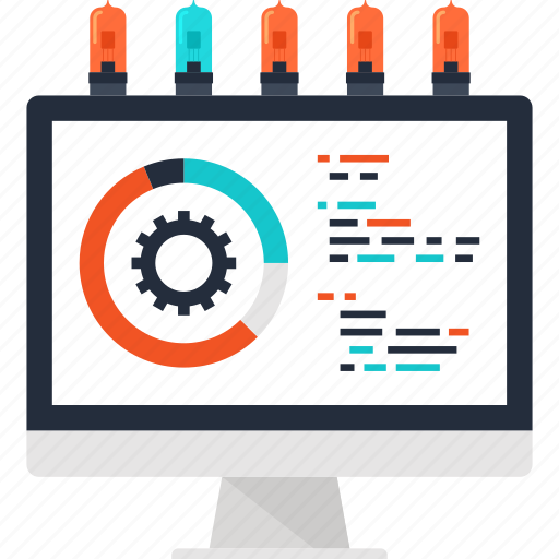 chart, computer, data, development, graph, optimization, processing icon