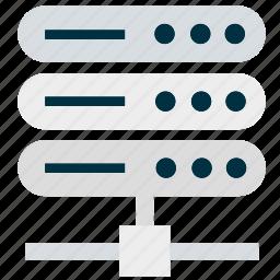 backend, database, files, server, storage icon