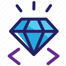 clean, code, coding, diamond, quality, web icon