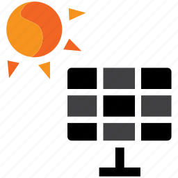 cell, electricity, energy, panel, solar, sun icon