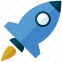 launch, rocket, space, spaceship, startup, travel icon