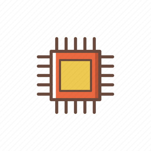 computer, cpu, electronics, hardware, pc, technology icon