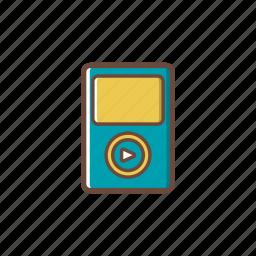electronics, music, music player, technology icon