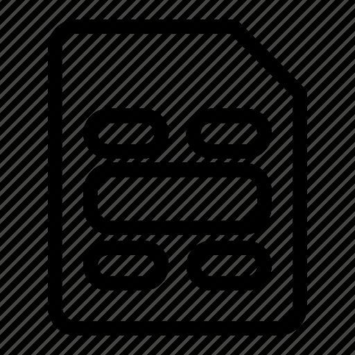 gsm, mobile sim, sim, sim card icon