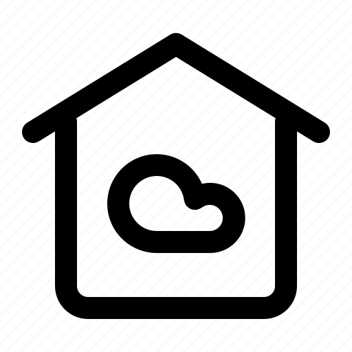 cloud, device, home, house, technology icon