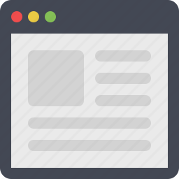 article, blog, browser, web, webpage, website icon