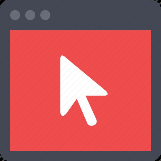 browser, navigate, navigation, pointer, seo, webpage, website icon