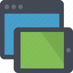 devices, multi platform, responsive, responsive design, responsive layout icon