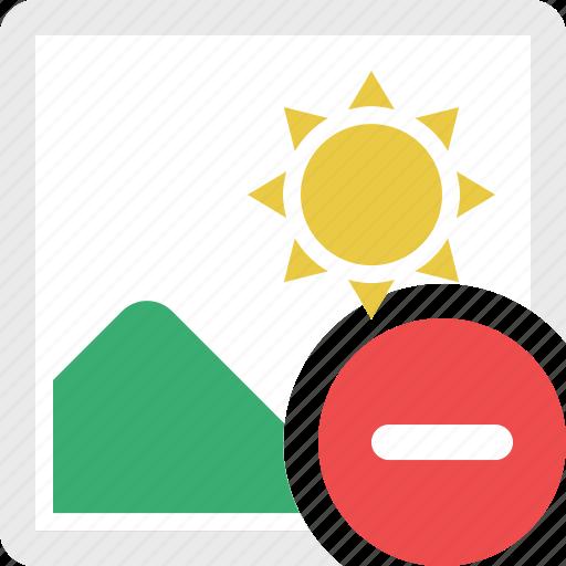 image, landscape, photo, photography, picture, remove photo, remove picture icon