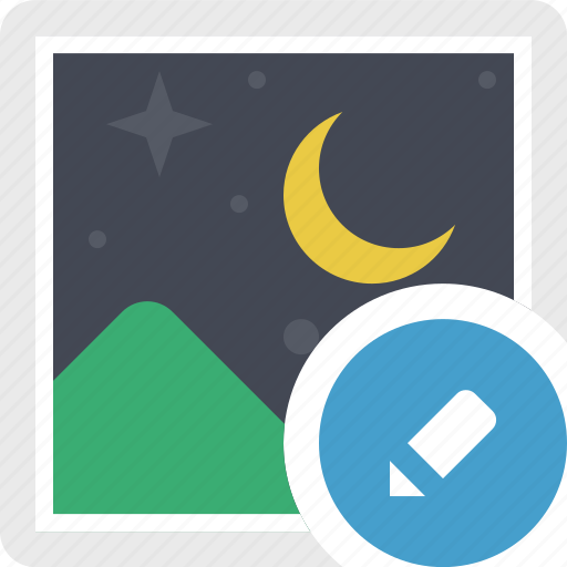 edit photo, edit picture, gallery, image, night, photo, photography icon