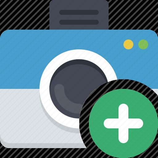 add photo, camera, image, photocamera, snapshot icon