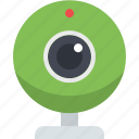 camera, video, video chat, video conversation, video talk, web camera icon