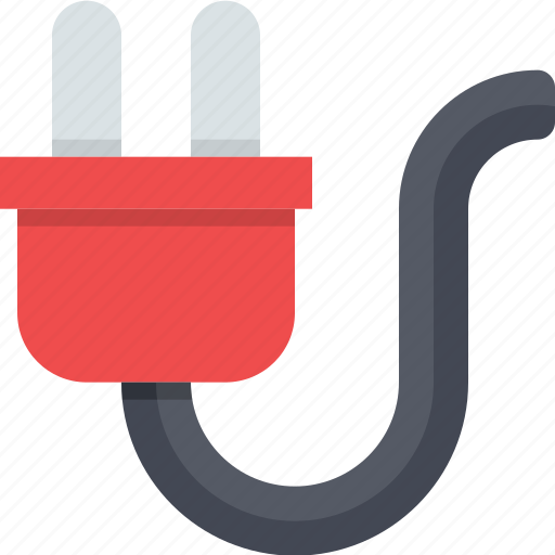 cabel, electric, energy, plug, power, power cord, power supply icon