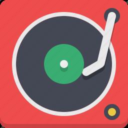 gramophone, melody, retro, vinyl icon