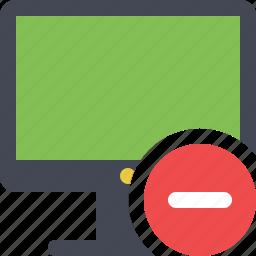 computer, desktop, display, monitor, personal computer, remove, remove computer icon