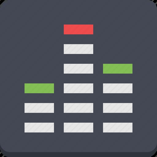 adjustement, audio, control, equalizer, multimedia, volume icon