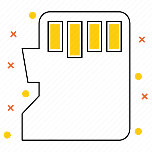 card, data, equipment ×, memoire, sd, tecknology & multimedia icon