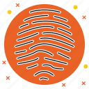 access, finger, fingerprint, id, identity, print, security icon