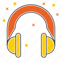 earphones, equipment, headphone, headset, microphone icon