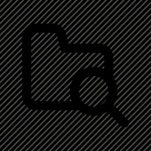 file, find, folder, magnifier, search icon