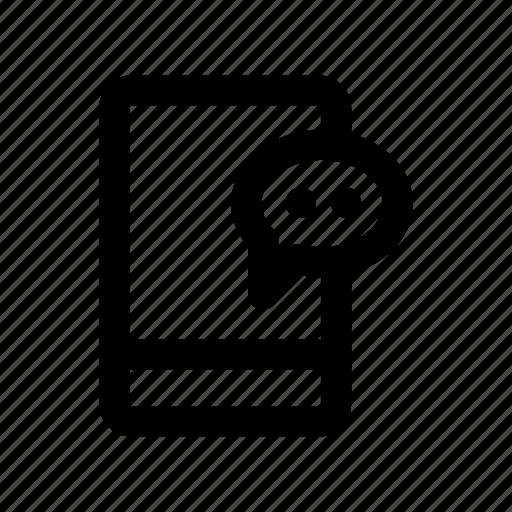 chat, conversation, inbox, message, mobile icon