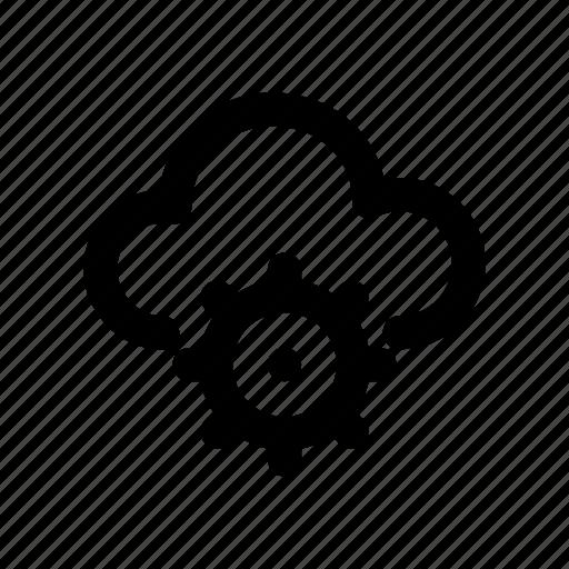cloud, configuration, gear, server, setting icon