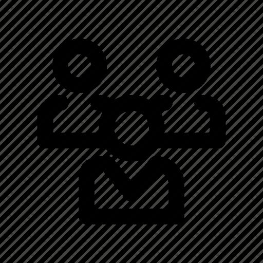 employees, group, network, organization, team icon