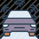 automatic, autonomous car, car, car sensor, self driving, sensor, transport