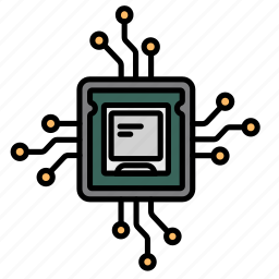 attach, chips, components, computerchip, internal, parts, pc icon