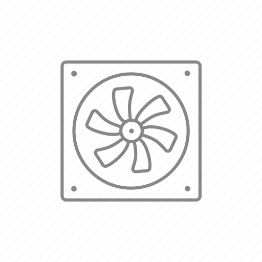 air, airflow, chilling, computer, cooler, fan, processor icon