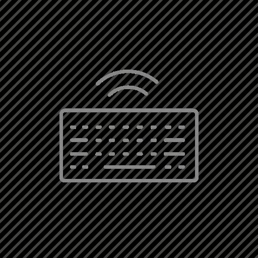 desktop, device, input, keyboard, pc, wifi, wireless icon