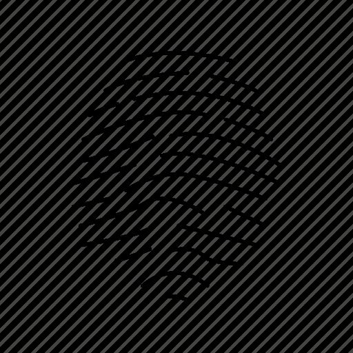 finger, fingerprint, identification, identity icon