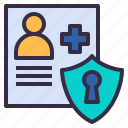 data, security, patient, secret, encrypted, personal icon