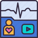 ekg, ecg, portable, heart, signal, rate, monitor
