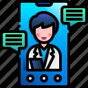 doctor, visit, medical, chat, online, medicine, phone