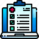 test, results, medical, report, healthcare, hospital icon